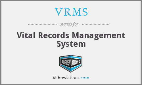 VRMS - Vital Records Management System
