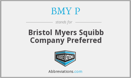 What does BMY P stand for?