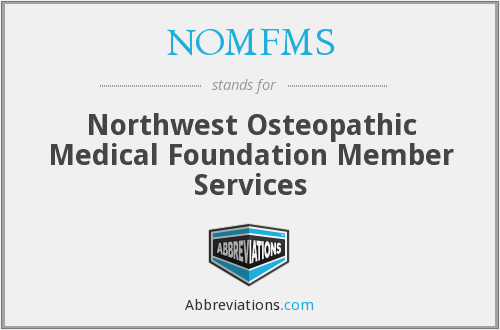 NOMFMS - Northwest Osteopathic Medical Foundation Member Services