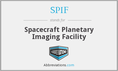 SPIF - Spacecraft Planetary Imaging Facility