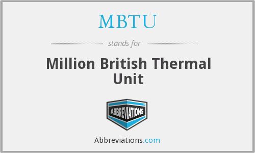 MBTU - Million British Thermal Unit