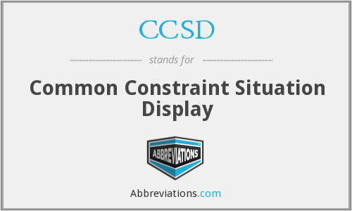 CCSD - Common Constraint Situation Display
