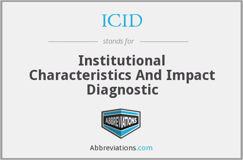 ICID - Institutional Characteristics And Impact Diagnostic