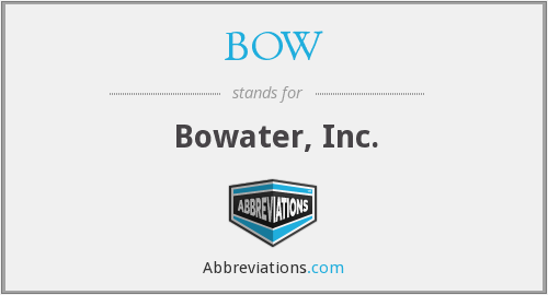 BOW - Bowater, Inc.