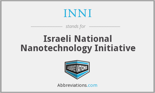 INNI - Israeli National Nanotechnology Initiative