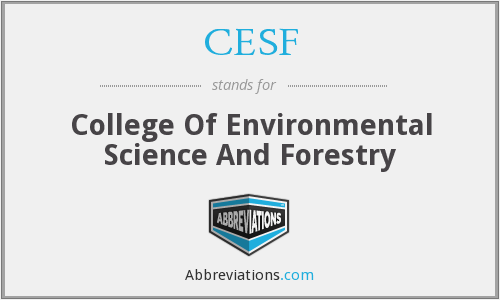 CESF - College Of Environmental Science And Forestry