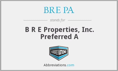 What does BRE PA stand for?
