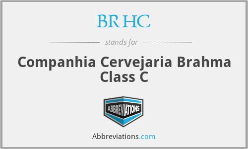 BRHC - Companhia Cervejaria Brahma Class C