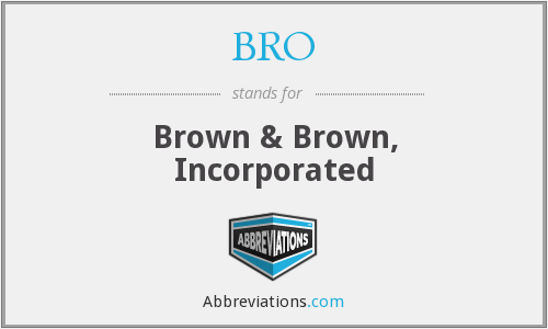 What does BRO stand for?