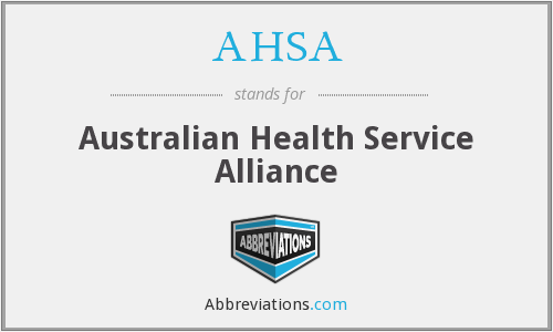 AHSA - Australian Health Service Alliance