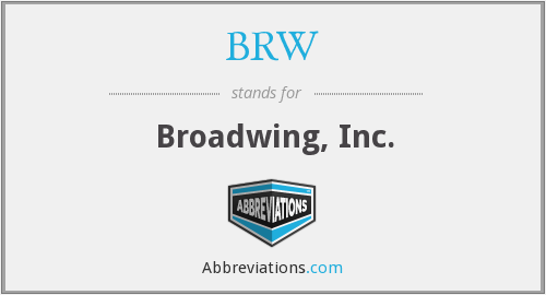 What does BRW stand for?