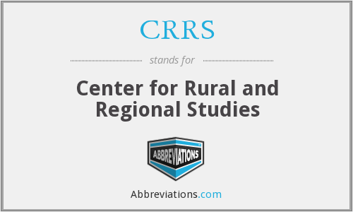 What does CRRS stand for?