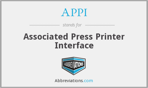 APPI - Associated Press Printer Interface