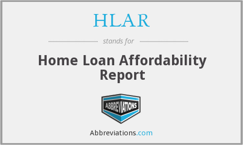 HLAR - Home Loan Affordability Report