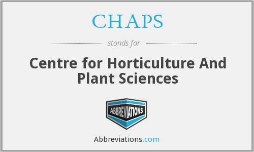 CHAPS - Centre for Horticulture And Plant Sciences