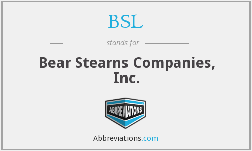 BSL - Bear Stearns Companies, Inc.