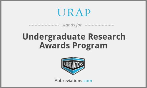 URAP - Undergraduate Research Awards Program