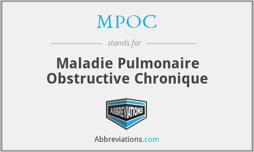 MPOC - Maladie Pulmonaire Obstructive Chronique
