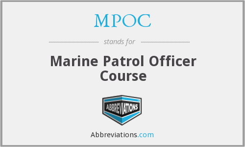 MPOC - Marine Patrol Officer Course