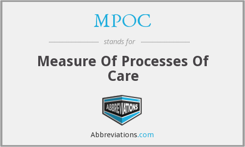 MPOC - Measure Of Processes Of Care