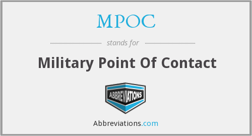 MPOC - Military Point Of Contact
