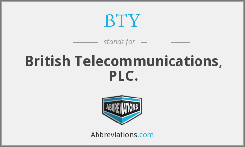 BTY - British Telecommunications, PLC.