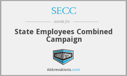 SECC - State Employees Combined Campaign