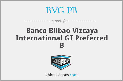 What does BVG PB stand for?