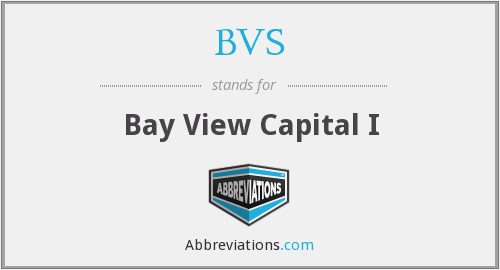 BVS - Bay View Capital I