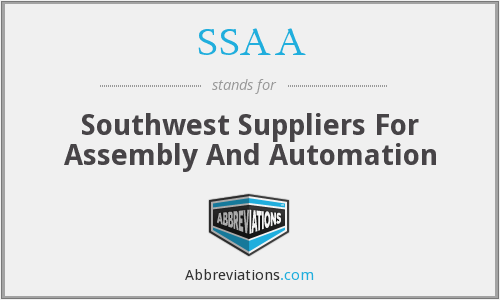 SSAA - Southwest Suppliers For Assembly And Automation