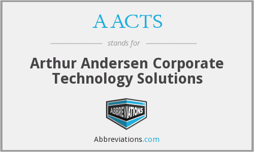 AACTS - Arthur Andersen Corporate Technology Solutions
