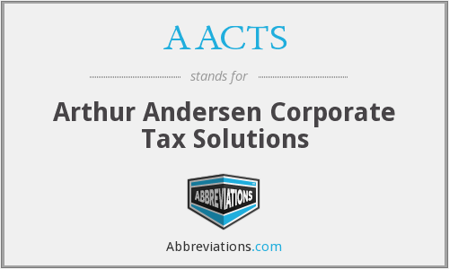 AACTS - Arthur Andersen Corporate Tax Solutions