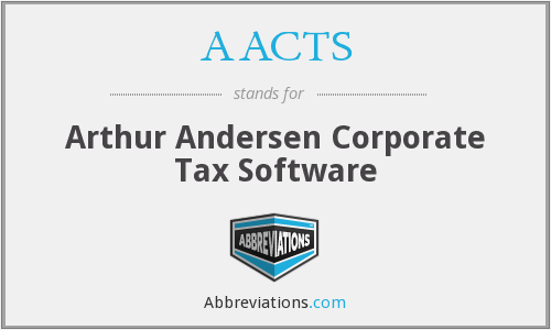 AACTS - Arthur Andersen Corporate Tax Software