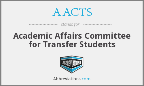 AACTS - Academic Affairs Committee for Transfer Students