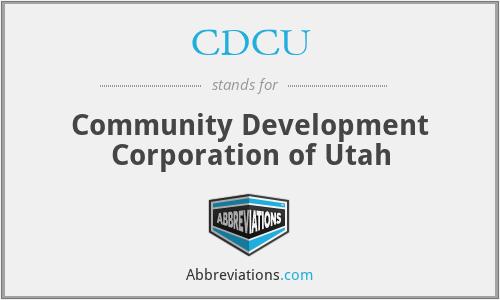 CDCU - Community Development Corporation of Utah