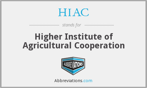 HIAC - Higher Institute of Agricultural Cooperation