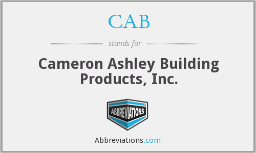 CAB - Cameron Ashley Building Products, Inc.