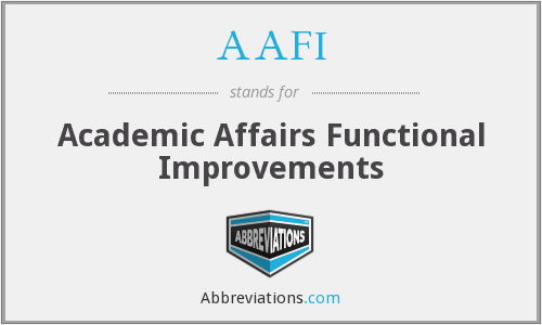 AAFI - Academic Affairs Functional Improvements