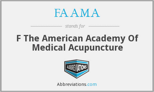 FAAMA - F The American Academy Of Medical Acupuncture