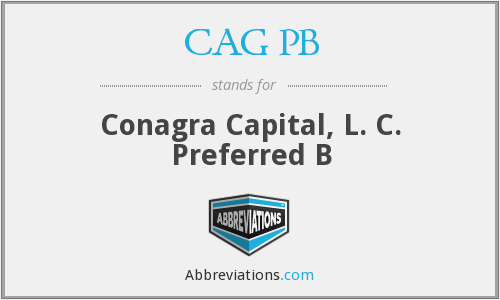 CAG PB - Conagra Capital, L. C. Preferred B
