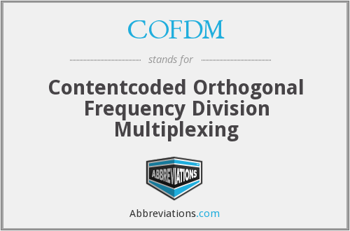 COFDM - Contentcoded Orthogonal Frequency Division Multiplexing