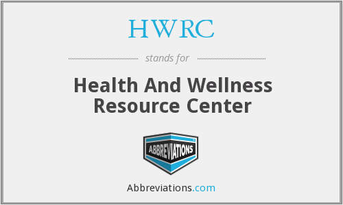 HWRC - Health And Wellness Resource Center