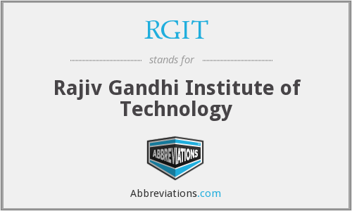 RGIT - Rajiv Gandhi Institute of Technology