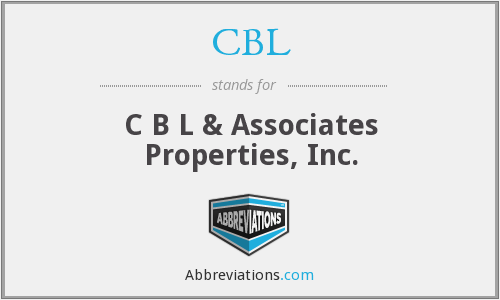 CBL - C B L & Associates Properties, Inc.