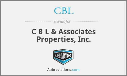 CBL - C B L & Associates Properties, Inc.