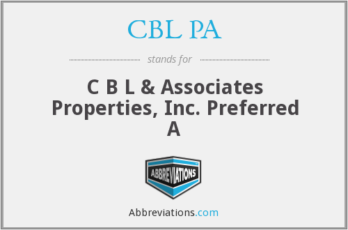 CBL PA - C B L & Associates Properties, Inc. Preferred A