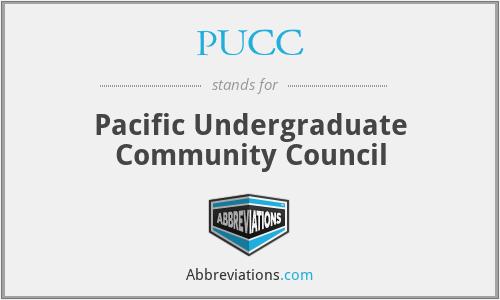 PUCC - Pacific Undergraduate Community Council