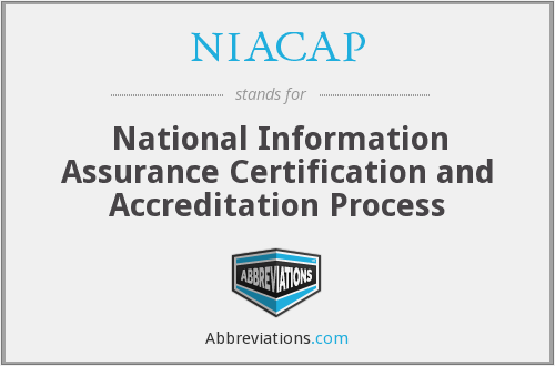 NIACAP - National Information Assurance Certification and Accreditation Process