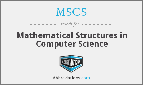 MSCS - Mathematical Structures in Computer Science