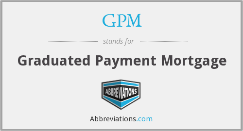 GPM - Graduated Payment Mortgage